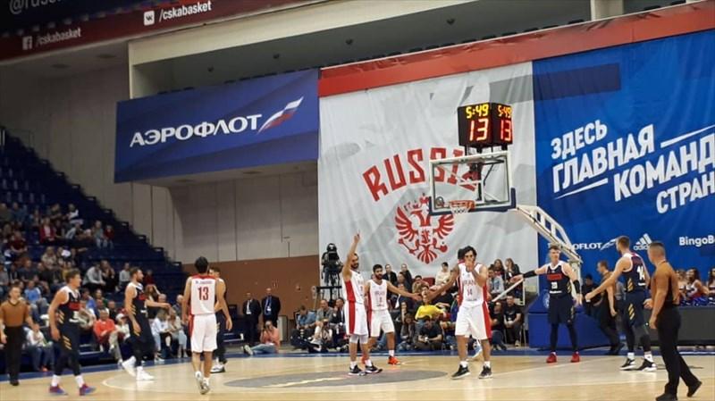 پیروزی تیم ملی بسکتبال مقابل روسیه