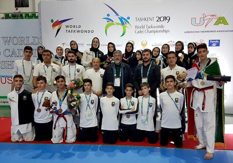 قهرمانی دختران و نایب قهرمانی پسران ایران در رقابتهای جهانی تکواندو نونهالان