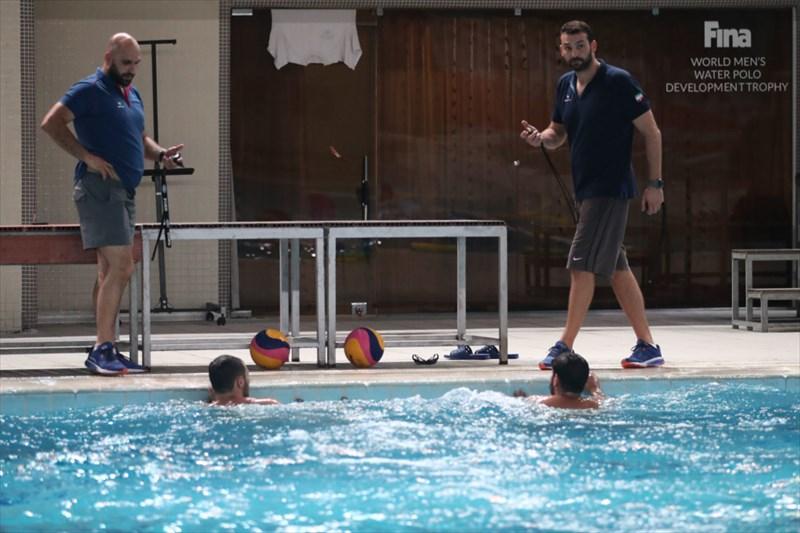 اردوی آماده سازی تیم ملی واترپو در استخر 9 دی/ گزارش تصویری