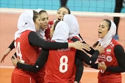 بانوان والیبالیست ایران هفتم آسیا شدند