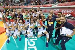 قهرمانی والیبالیست های  نوجوانان ایتالیا در جهان