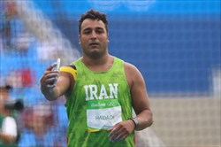 حدادی به مدال نرسید/مقام هفتم برای پرتابگر دیسک ایران