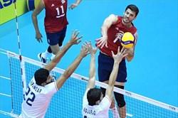 آمریکا چهارمین باخت والیبال ایران را رقم زد