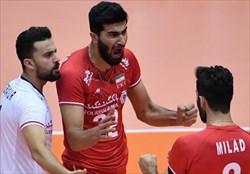 پیروزی والیبالیست های ایران  مقابل قعرنشین / اسفندیار امتیازآورترین بازیکن ایران