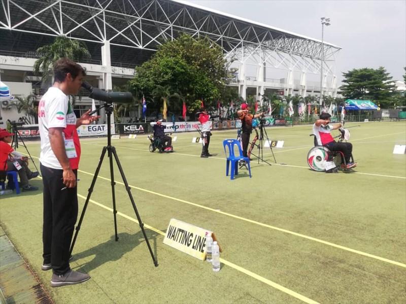 نوری در فینال پارا تیراندازی با کمان قهرمانی آسیا