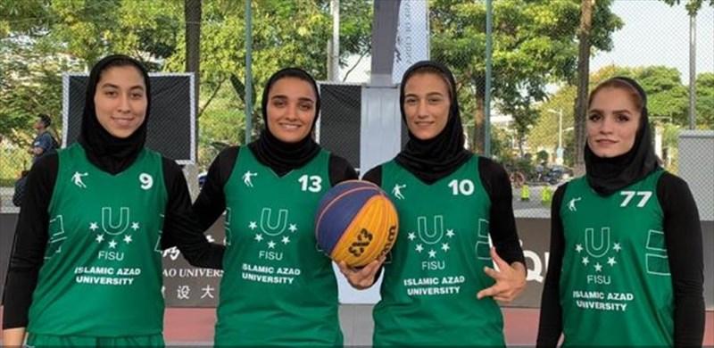 بانوان ایران در جایگاه سوم لیگ جهانی بسکتبال 3 نفره دانشجویان