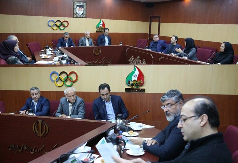 نشست تخصصی مسئولان کمیته المپیک با 2 فدراسیون