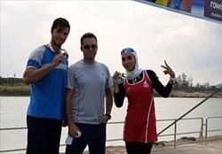 کسب دو مدال طلا نمایندگان ایران در مسابقات روئینگ آسیا