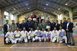 قهرمانی تیم های الف و ب رعد پدافند هوایی در مسابقات کاراته ارتش