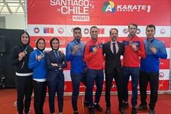 نمایش درخشان کاراته کاهای کشورمان در شیلی/  قهرمانی ایران با کسب ۵ طلا و یک برنز