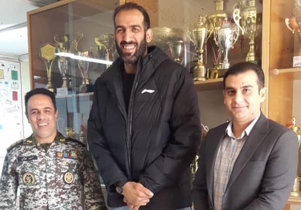 تشکر حدادی از مجموعه تربیت بدنی نیروی پدافند هوایی ارتش