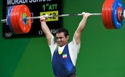 لغو اعزام وزنهبرداران ایران به دبی/ فقط مرادی وزنه میزند