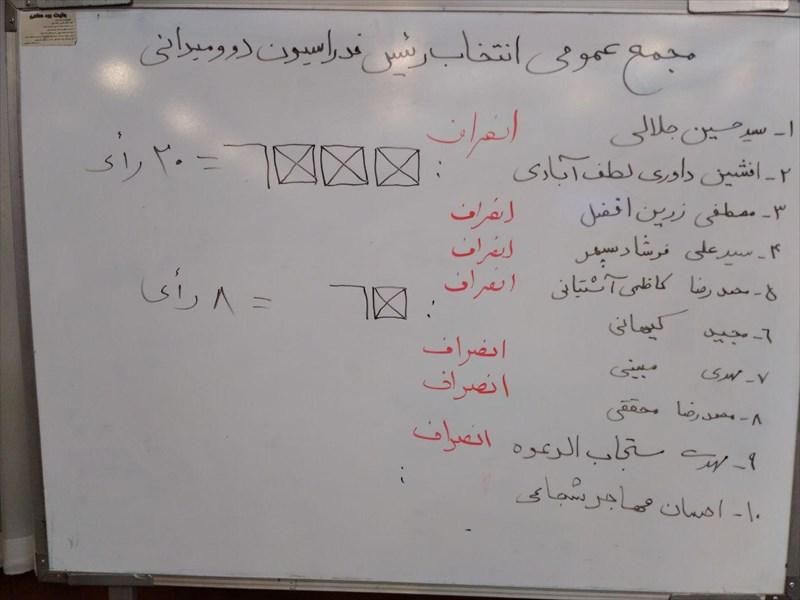 داوری با 20 رای  رئیس فدراسیون دوومیدانی شد