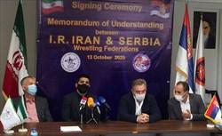 امضای تفاهمنامه میان روسای فدراسیونهای کشتی ایران و صربستان