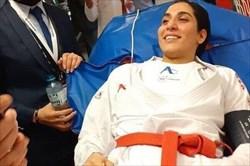 بانوی المپیکی کاراته ایران در انتظار اعزام به آلمان