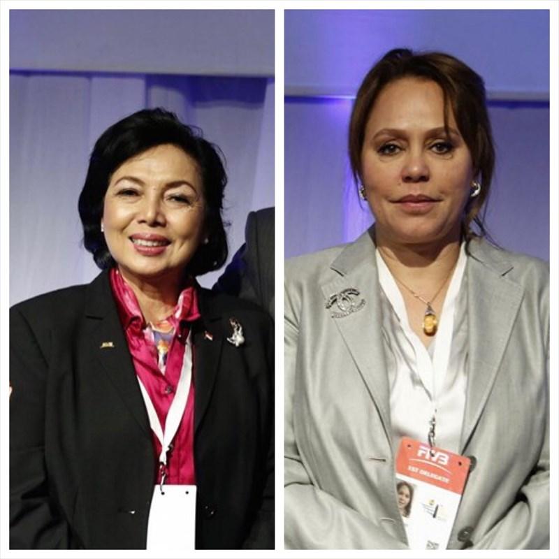 ریاست دو زن در کنفدراسیونهای والیبال آسیا و آفریقا برای اولین بار