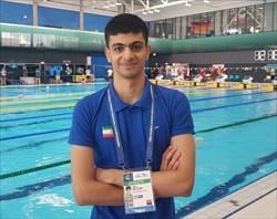 بالسینی رکورد ۲۰۰ متر پروانه ایران را شکست و به المپیک نزدیک شد