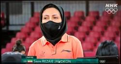 قضاوت دقیق و بدون اشتباه سیمین رضایی در رقابتهای تنیس روی میز المپیک