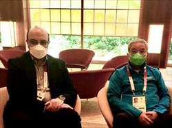 مهدی علینژاد معاون وزیر ورزش صبح امروز با یوزای چینگ نایب رئیس کمیته بینالمللی المپیک دیدار کرد